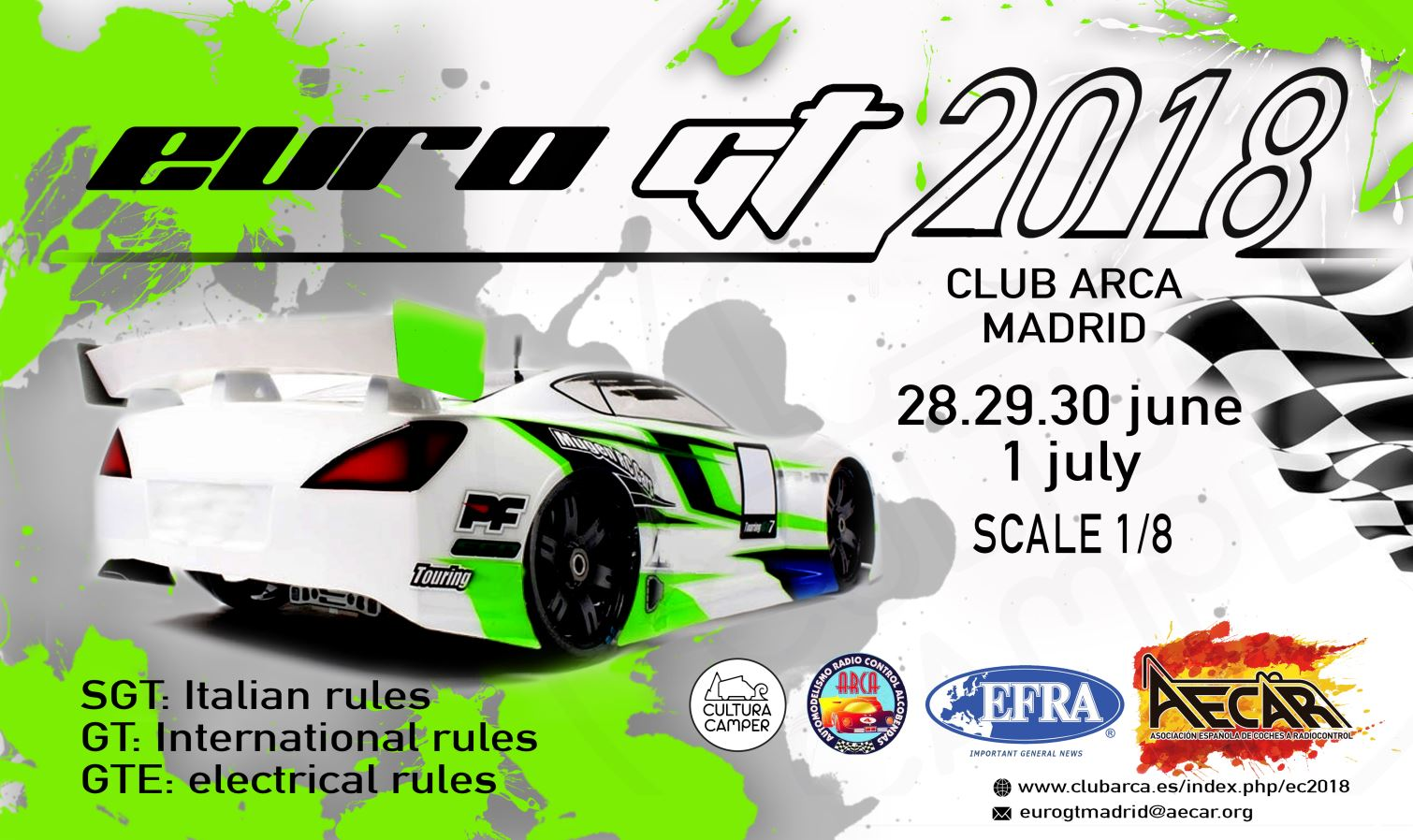 EFRA EUROPEAN FEDERATION OF RADIO OPERATED MODEL AUTOMOBILES - Sports cars 8 letters